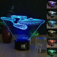 Star Trek USS Enterprise 3D LED Night Light 7 Color Touch ...
