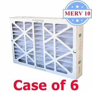 16x25x4 Air Filter Merv 10 Pleated By Glasfloss Box Of 6