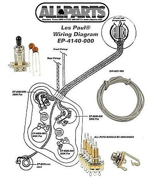Wiring Kit for Gibson Les Paul Complete W/ Diagram CTS Pots