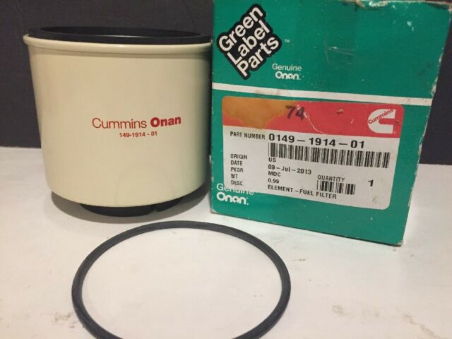 Cummins Onan Fuel Filter Element 0149191401 Old Stock eBay