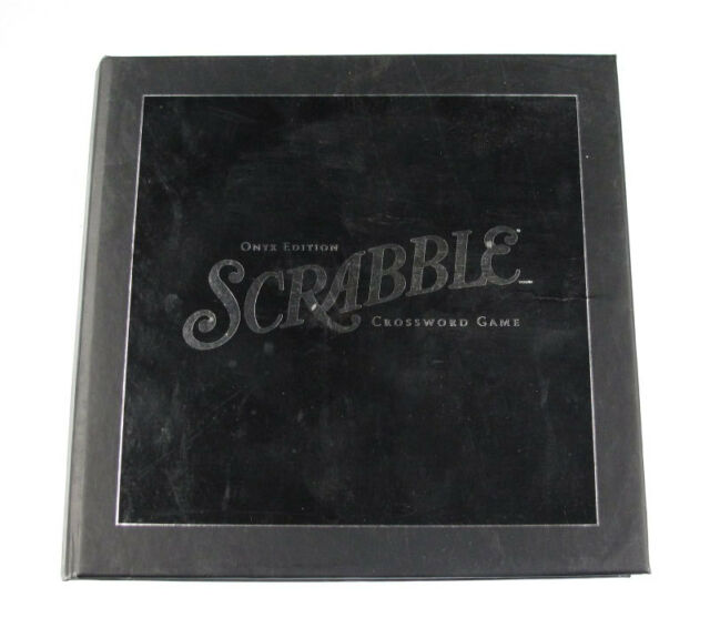 Scrabble Onyx Edition Crossword Game Official Score Sheet Booklet