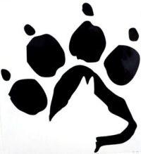 German Shepherd Dog Paw Print Car Truck Window Vinyl Decal ...