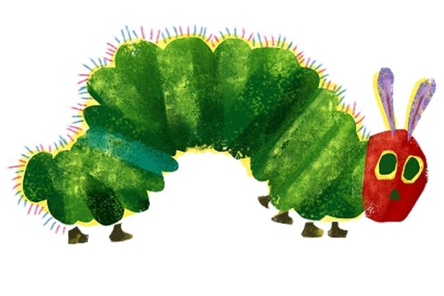 The Very Hungry Caterpillar Iron on Transfer 4x75\