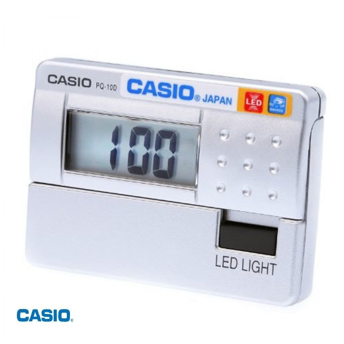 Small Led Alarm Clock Casio New Pq 10d Small Silver Led Digital Travel Lcd