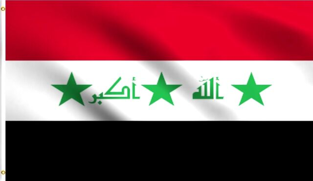 3x5 Iraq Flag Iraqi Flags Middle East Arab Banner F483 for sale