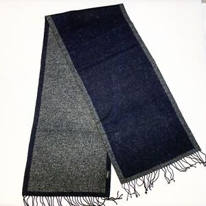 Jil Sander Gray Black Unisex 100 Wool Long Scarf Good Cd - Silk Scarf Joop