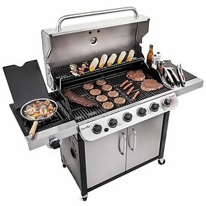Broil Gasgrill Details About Char Broil Performance 650 6 Burner Cabinet Gas Grill New