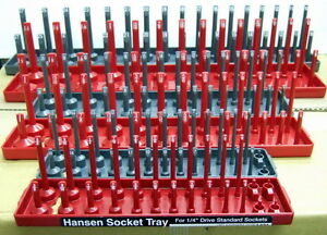 Hansen 1 4 3 8 1 2 Sae Metric Socket Organizer Holder