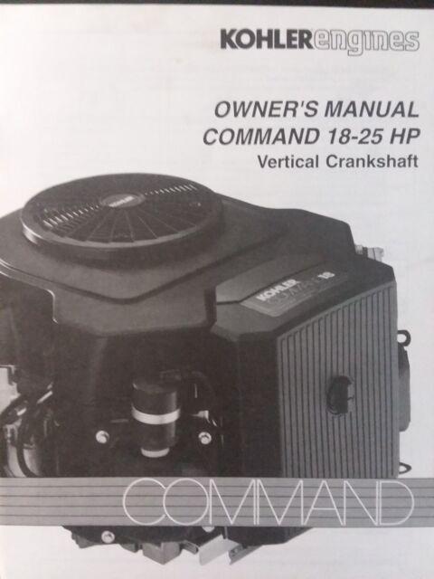 Kohler Command Vertical CV18 CV20 CV22 CV25 Engine Owners Manual