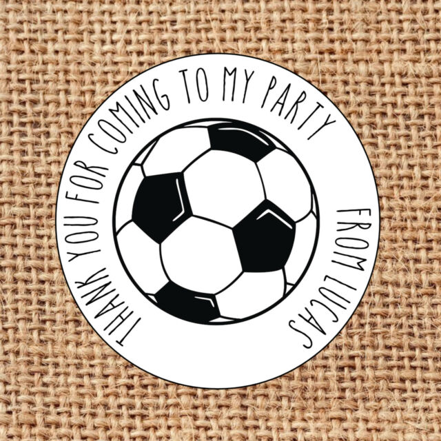 Football Party Bag Stickers 24 Thank You for Coming Sweet Cone