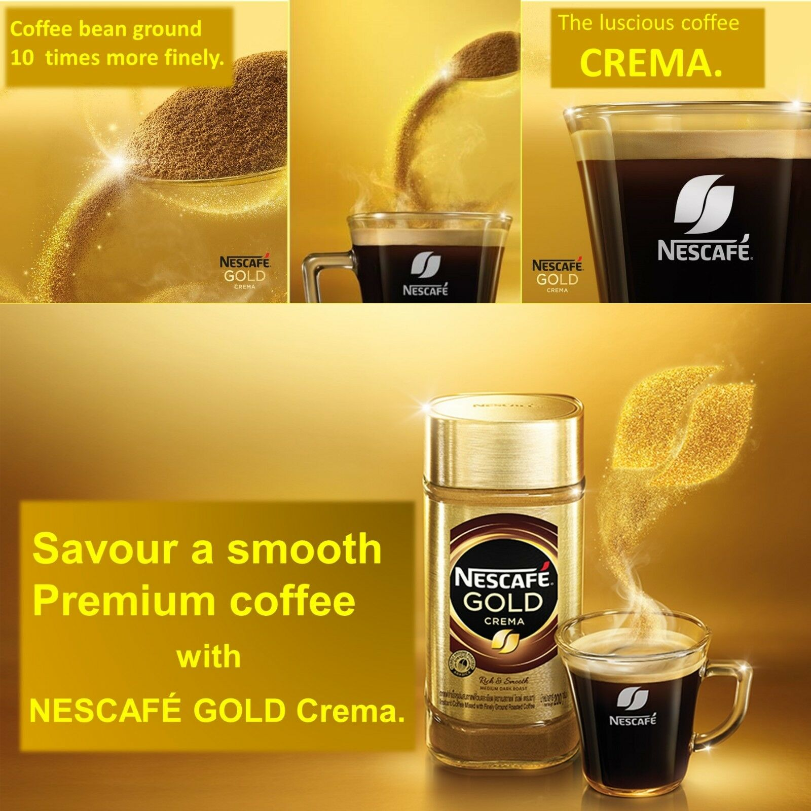 Nescafe Instant Arabica Coffee Best Nescafe 39 Gold Crema Premium Instant Coffee W Aroma