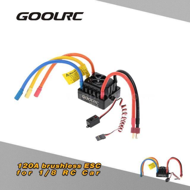 GoolRC 120a 2 6s Lipo Battery Sensored Brushless ESC for 1/8 RC Car