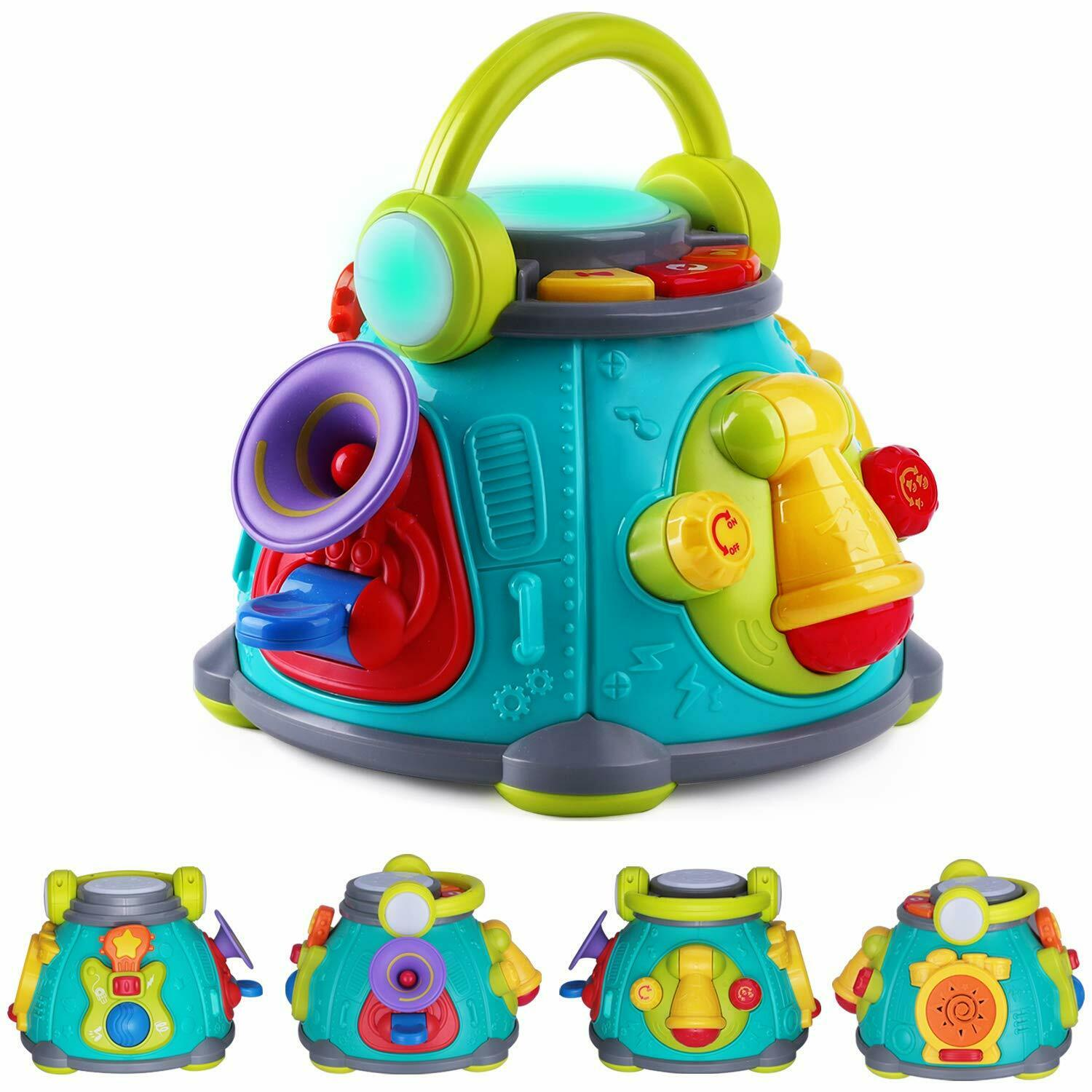 Babies Interactive Toys Baby Music Activity Cube Play Center Musical Toys For Toddlers 1 3 Infants Toy