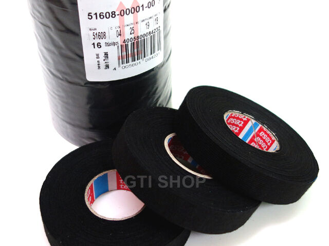 3 Roll / tesa 51608 Fleece Wire Cable Harness Tape 19mm X 25m