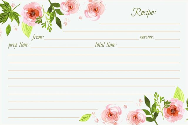 Jot  Mark Recipe Cards Floral Double Sided 4x6 50 Count Pink - double recipe cards