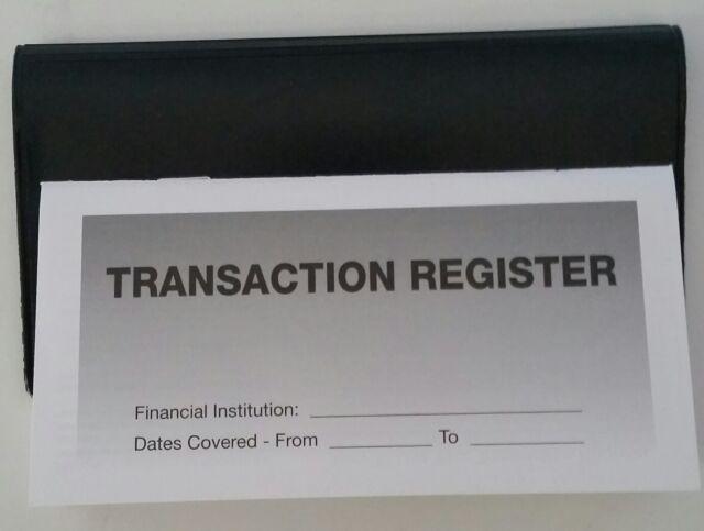 20 Checkbook Transaction Registers  1 Black Vinyl Check Book Cover