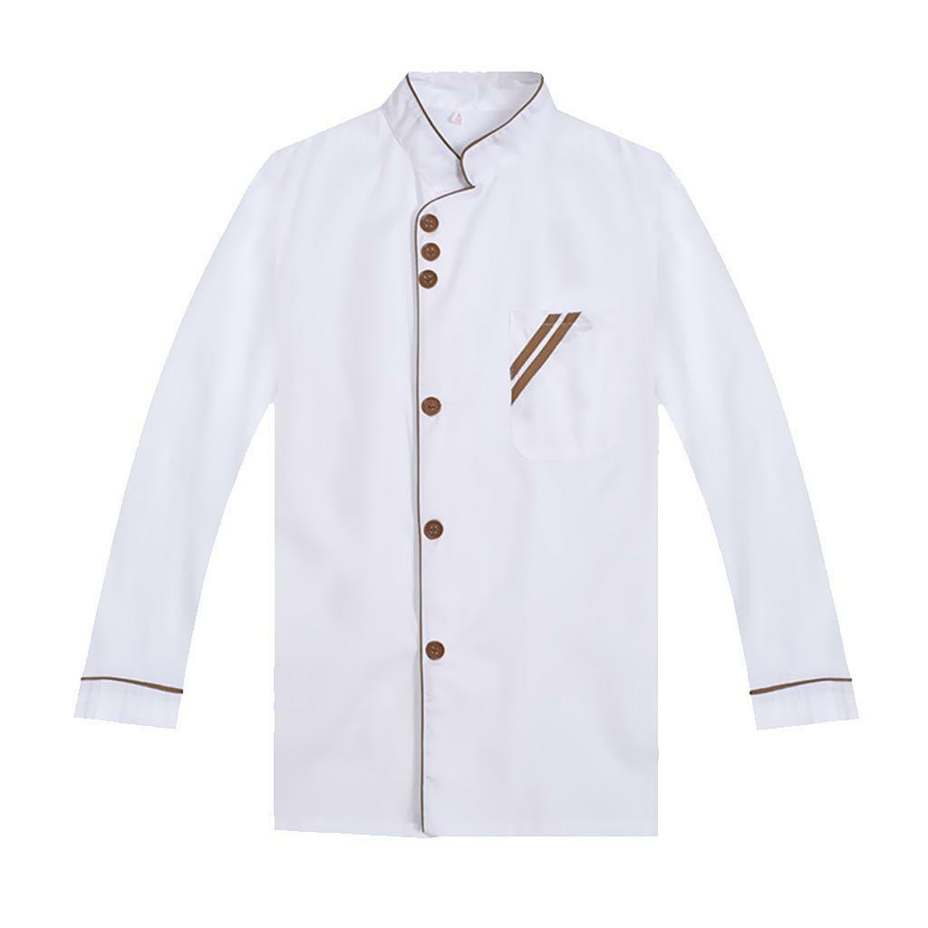 Vetements Cuisine Cook L Chef Cuisine Veste M Restaurant Vêtements Manteau Uoquswx0