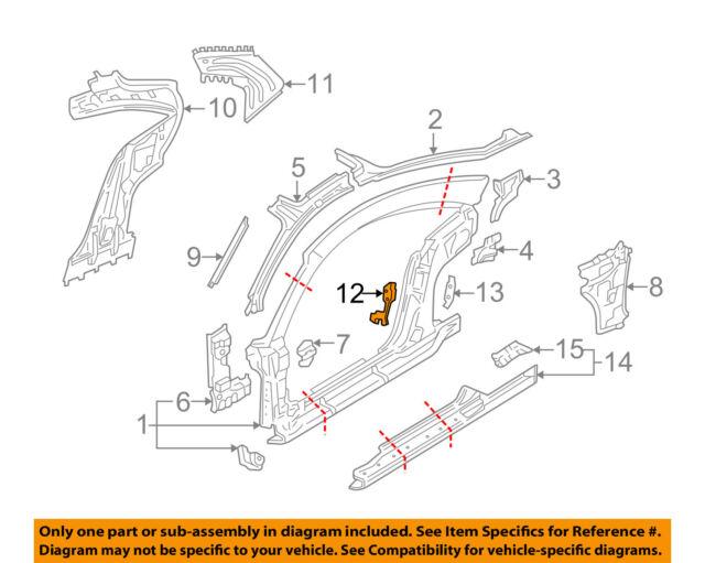 00 Audi TT Mk1 18t Left Seat Belt Bracket B Pillar Inner Support