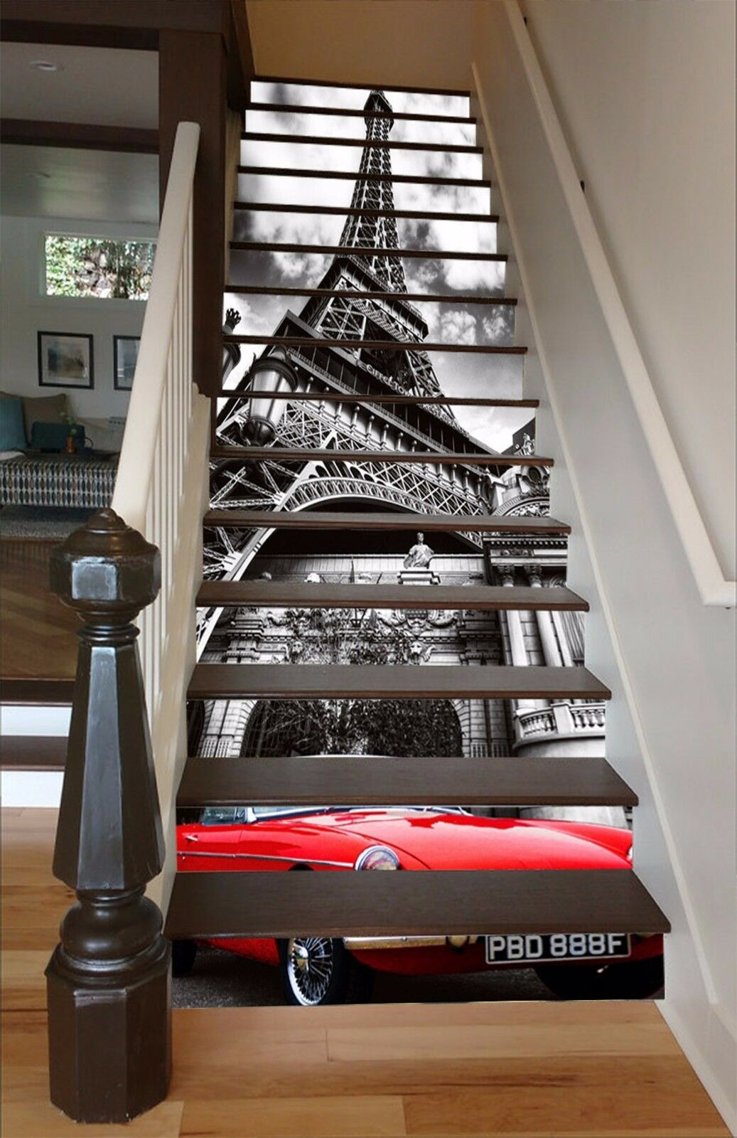 Decoration 3d Murale Eiffel Tower 715 Stair Risers Photo Mural Vinyl Decal Wallpaper Au