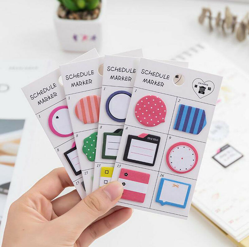 Schedule Maker Self-adhesive Memo Pad Sticky Notes Bookmark School