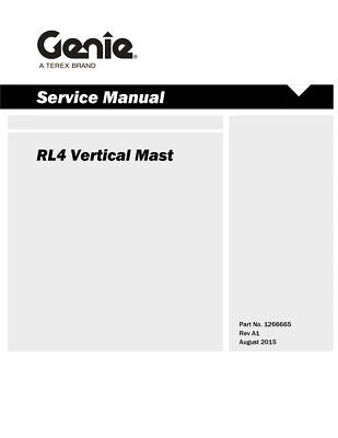 Terex Genie Rl4 Vertical Mast Light Tower Service Manual for sale