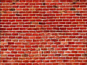 Red Brick Bricks Background Edible Cake Topper Wafer Or