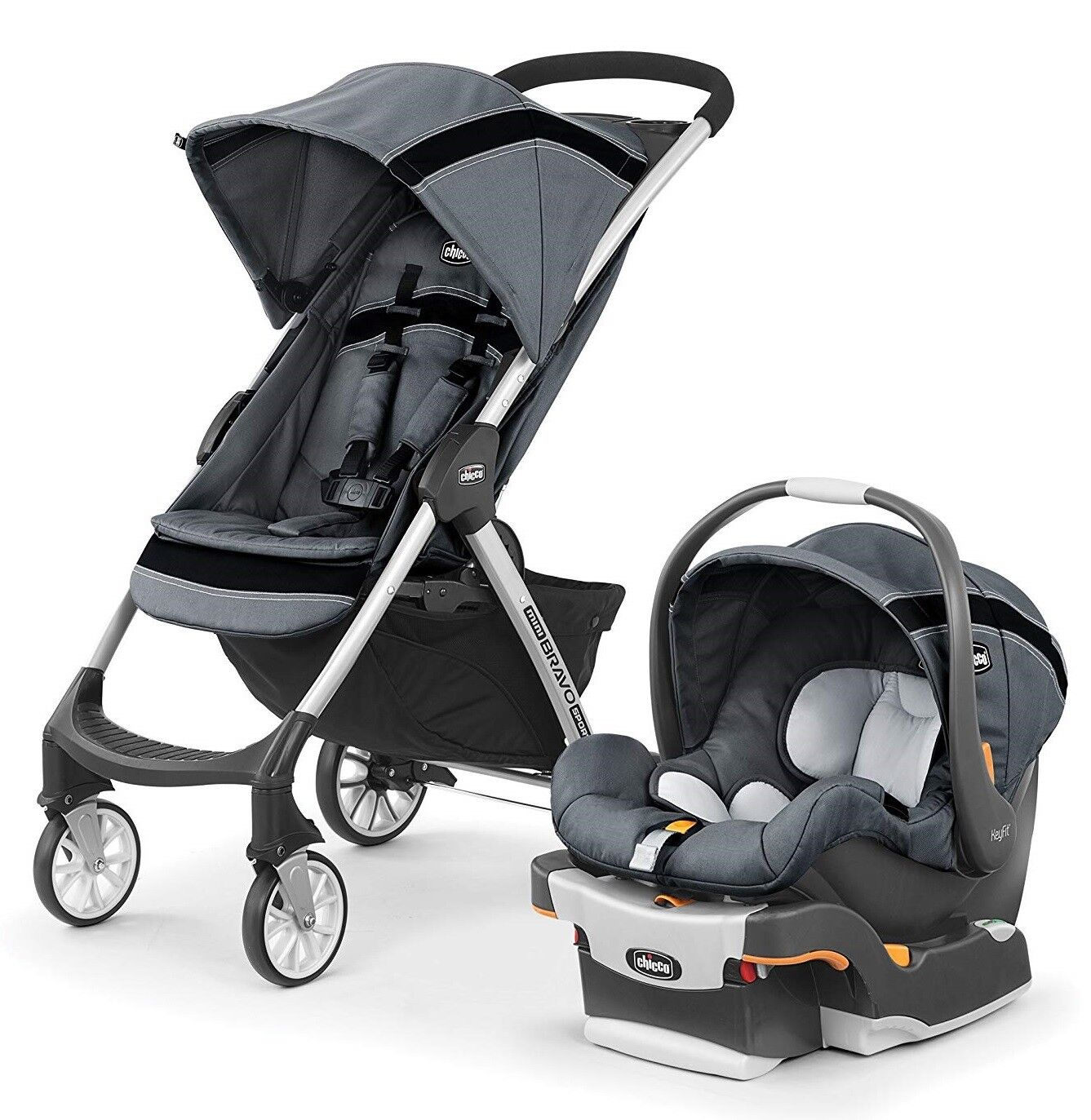 Stroller Travel System Ebay Chicco Mini Bravo Sport Baby Travel System Stroller W Keyfit Car Seat Carbon