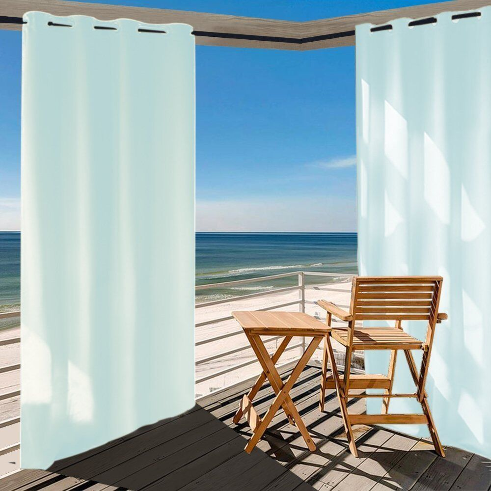 Outdoor Curtain Fabric By The Yard Details About Shatex Home Cal W50xl84 Inch Outdoor Curtain Panels Patio Privacy Screen Skyblue