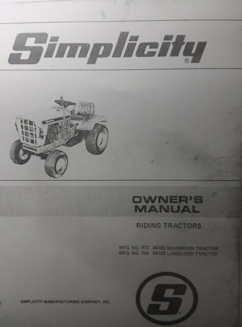 Simplicity 3410 Tractor Wiring Diagram Craftsman Riding Mower