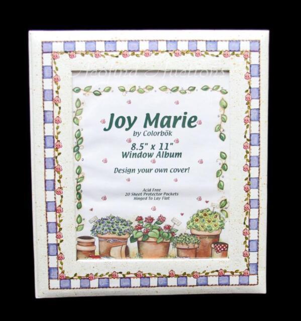 Details about NEW 85 x 11 Colorbok Joy Marie Memories Scrapbook Window  Photo Album Unused