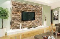 3D Wallpaper Bedroom Living Mural Roll Modern Faux Brick ...