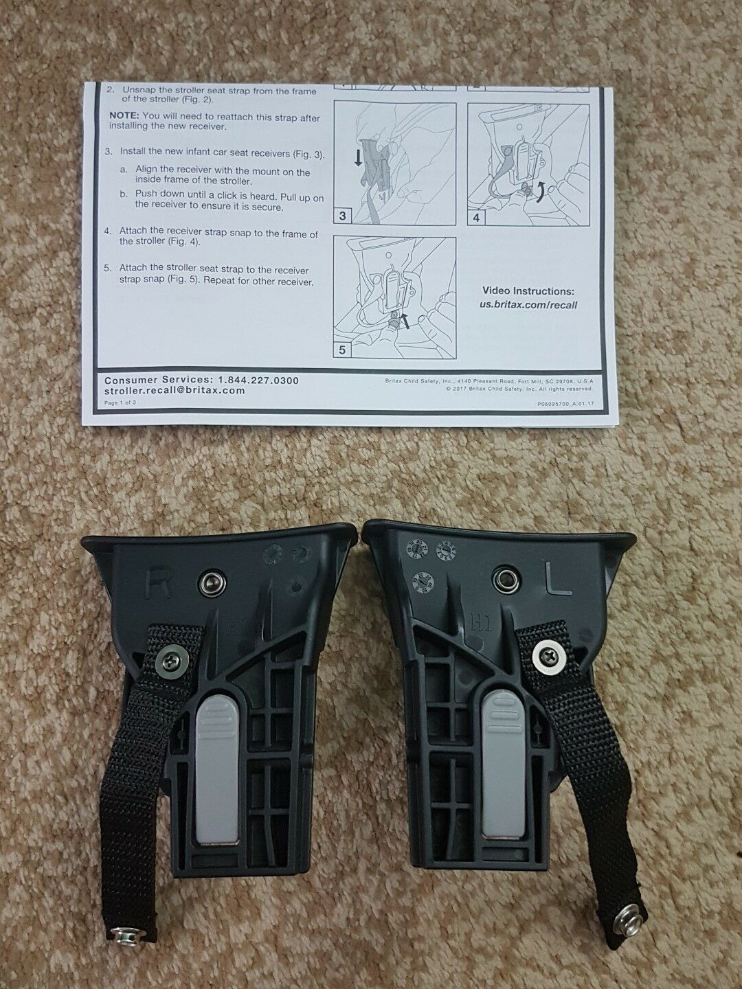 Nuna Stroller Recall Britax B Agile Bob Stroller Travel System Receivers Kit H1 Adapters New