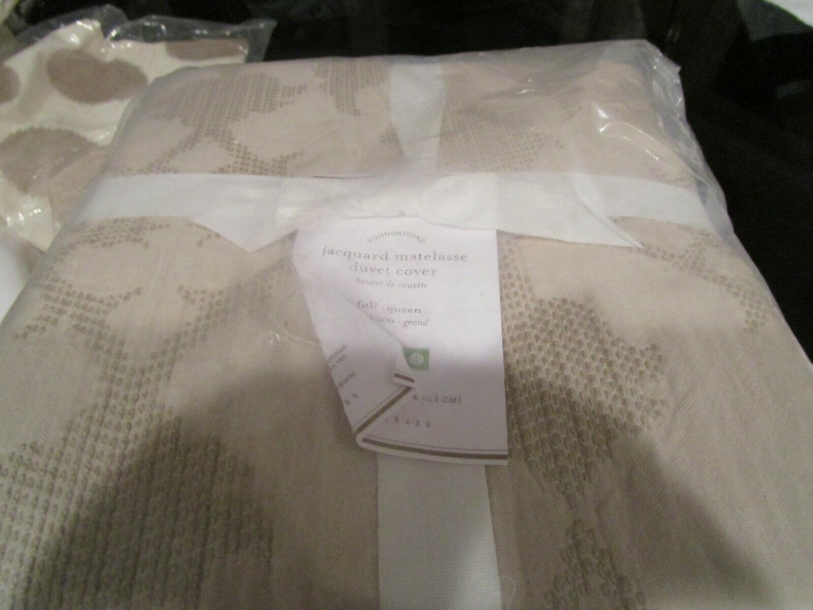 The Vampire Diaries Bettwäsche Pottery Barn Matelasse Full Queen Taupe Cover New With Tags Duvet