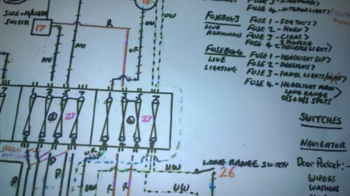 A2 LAMINATED BMC Rally Mini Cooper S Mk1 Works wiring loom diagram 4
