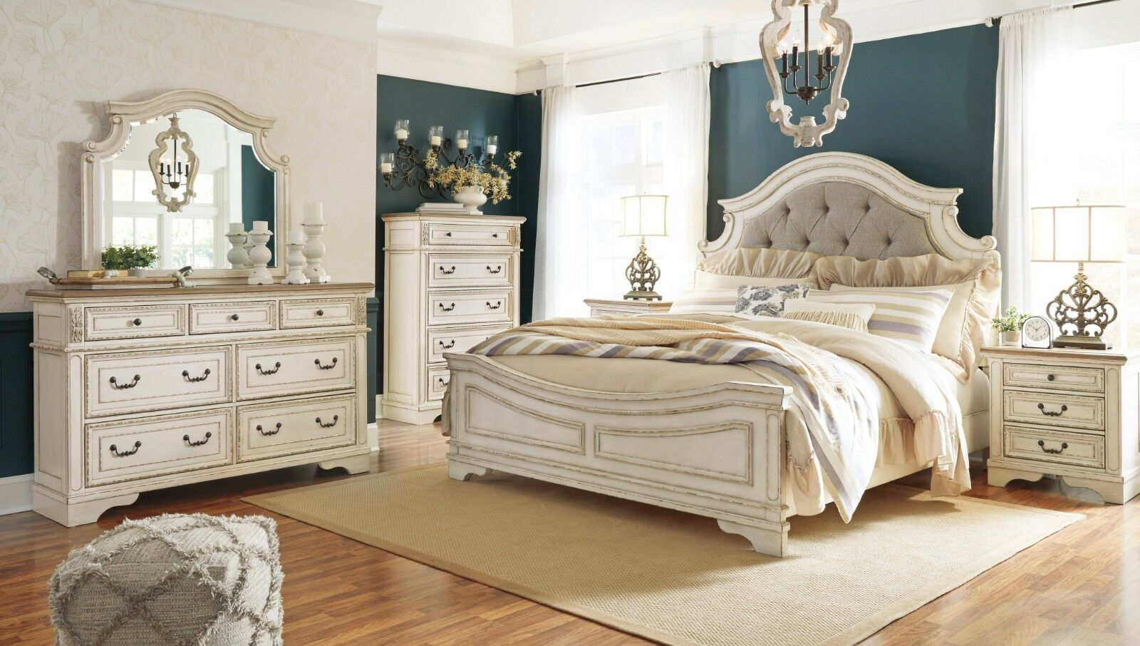 New Bedroom Set Ashley Furniture Realyn Queen 6 Piece Chipped White Bedroom Set