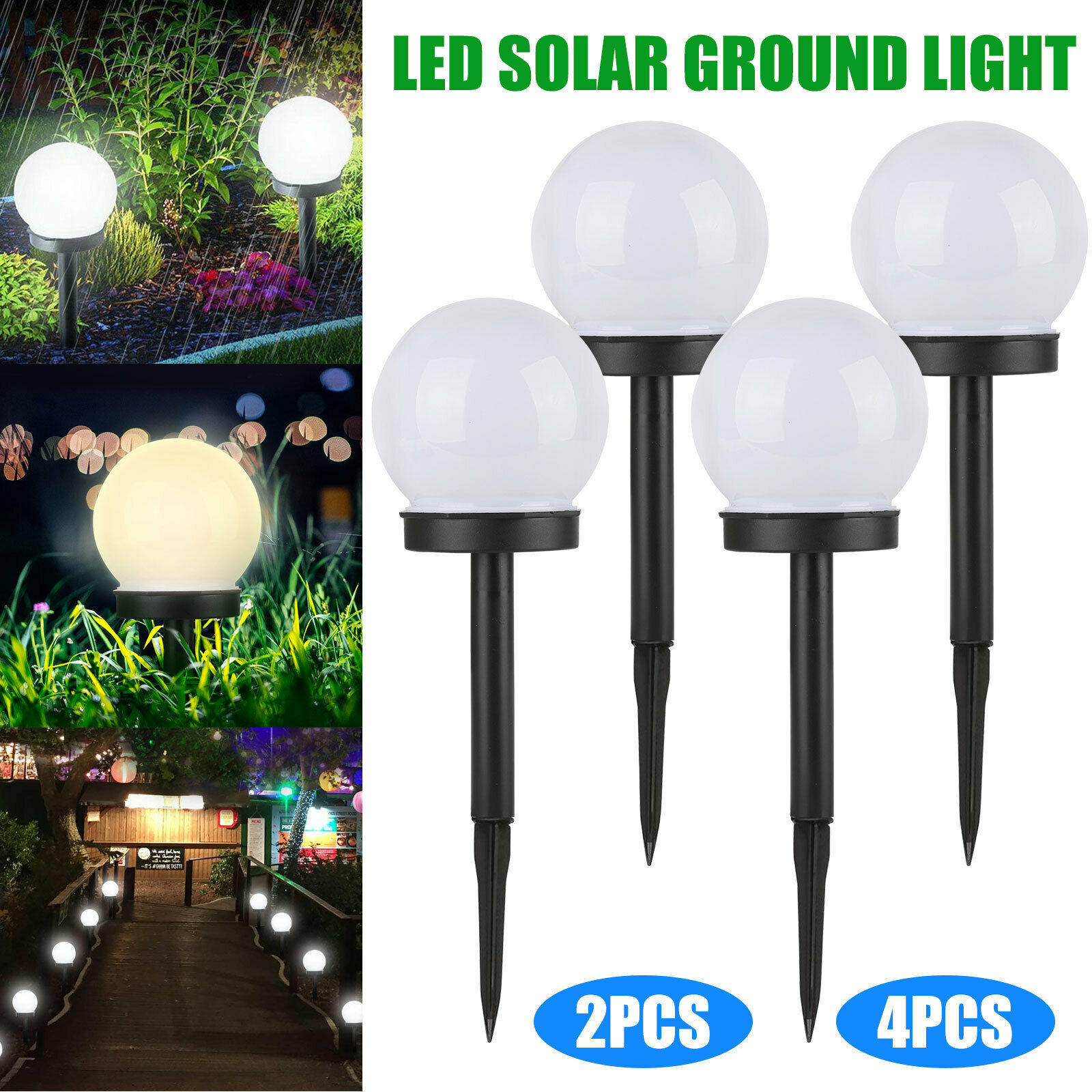Water Pond Floating Lights Set 2 Aquatic Globe Waterproof White Clear Solar Ball For Sale Online Ebay