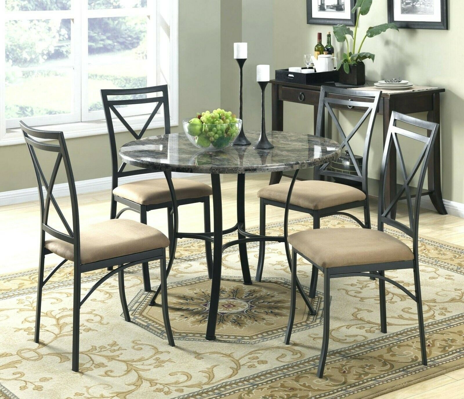 Dining Room Furniture Set Modern Contemporary Round Kitchen Table And Chairs For Sale Online