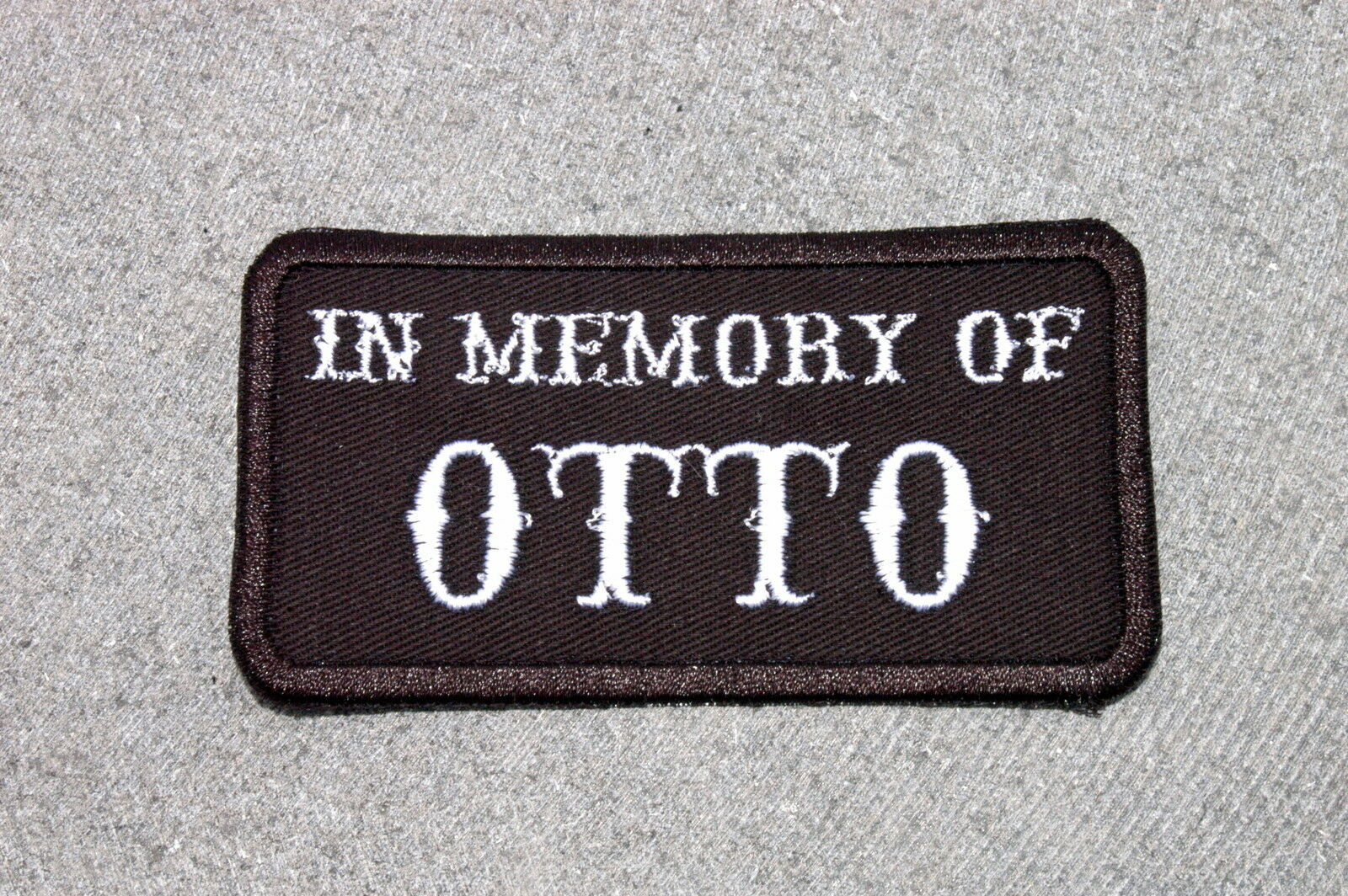0tto Online Shop In Memory Of Otto Biker Vest Motorcycle Patch Anarchy