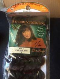 "BEVERLY JOHNSON 100% Premier Human Hair 12"" New DEEP Weave ..."