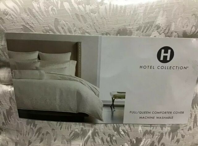 Hotel Collection Plume Full Queen Duvet Cover White For