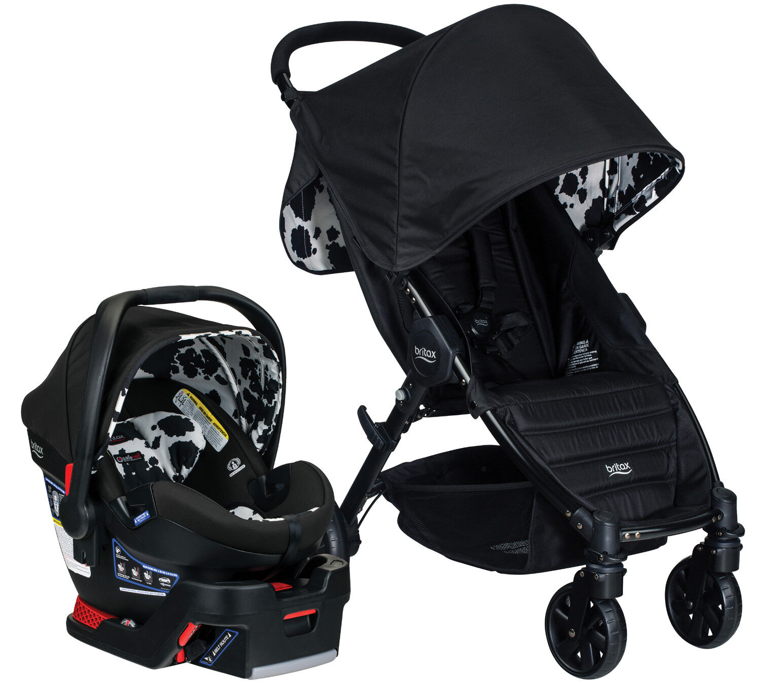 Britax Car Seat With Stroller Britax Pathway Travel System Stroller W B Safe Ultra Infant Car Seat Cowmooflage