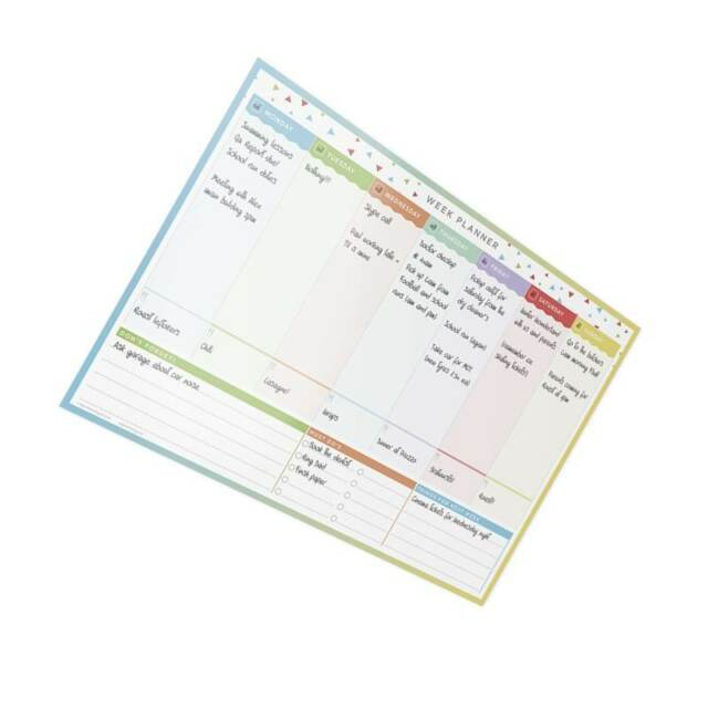 Wall Weekly Planner Large Whiteboard 47 X 32 Cm to Do List Home