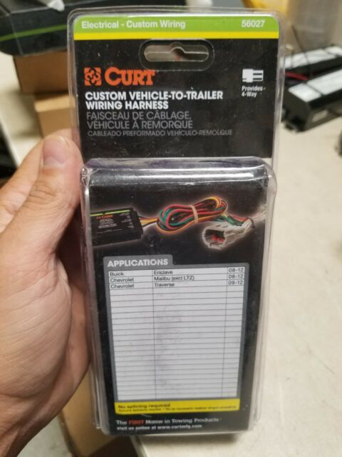 CURT Custom Vehicle to Trailer Wiring Harness 56027 for Chevy