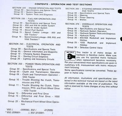 SERVICE MANUAL FOR JOHN DEERE 850 950 1050 TRACTOR TECHNICAL REPAIR