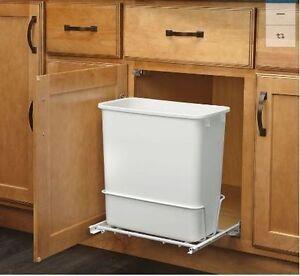 Plastic Garbage Bin Rev A Shelf 20 Quart For Pull Out