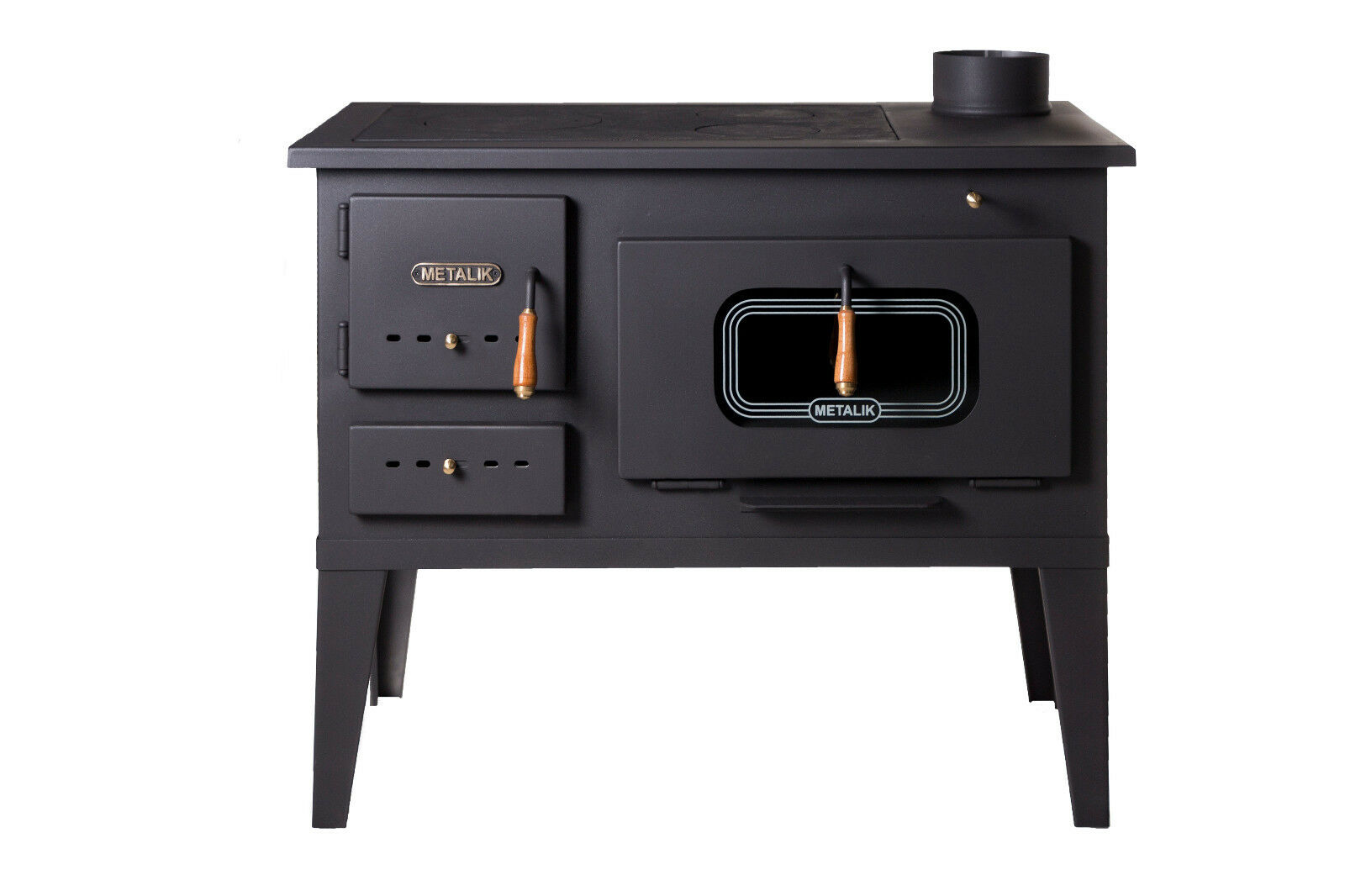Holzherd Küchenofen Details About Wood Burning Cooking Stove Cast Iron Top Log Burner Oven 8 12 Kw Heating Power
