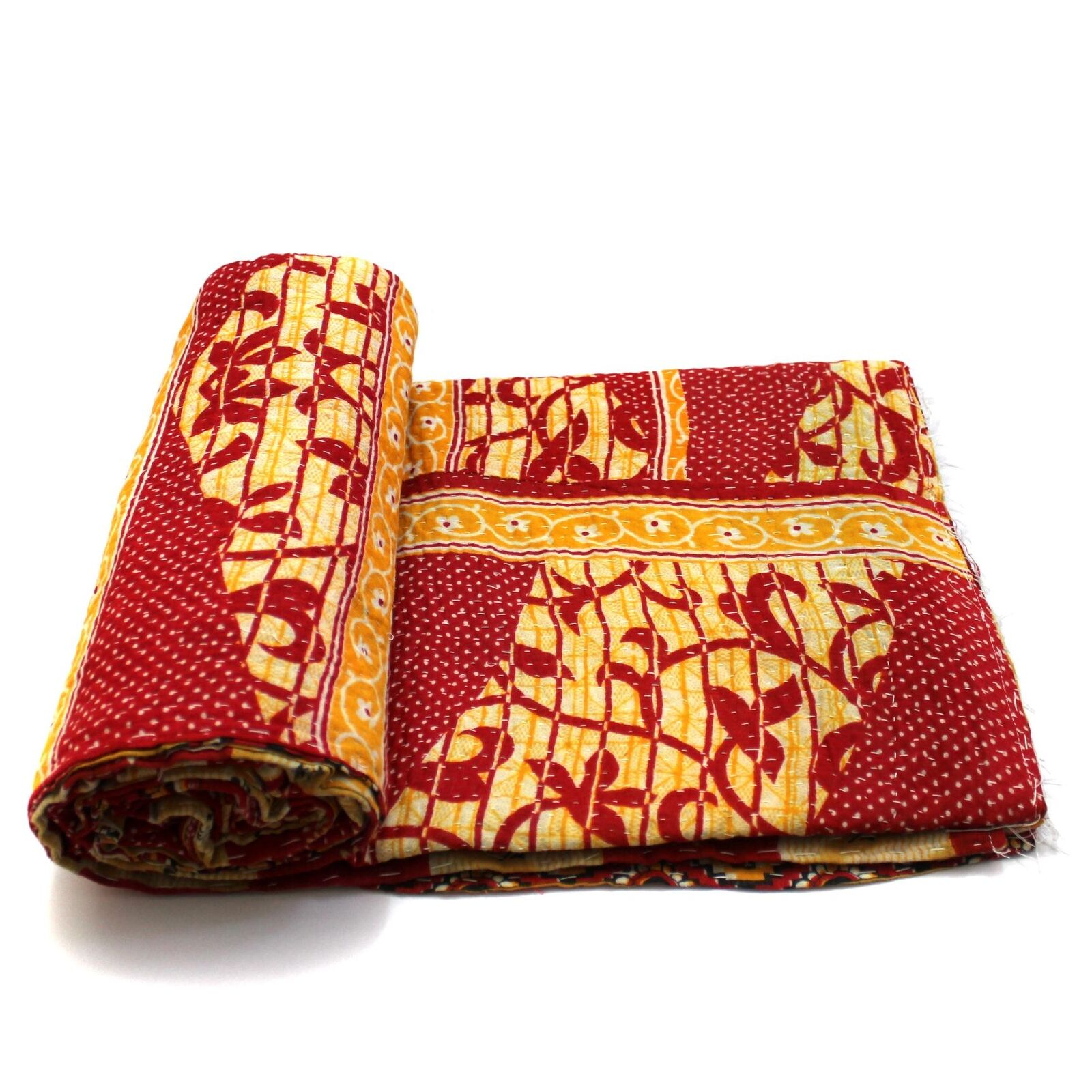 Toilettenbürste Tier Vintage Kantha Quilt Indian Handmade Bedspread Decorative Blanket