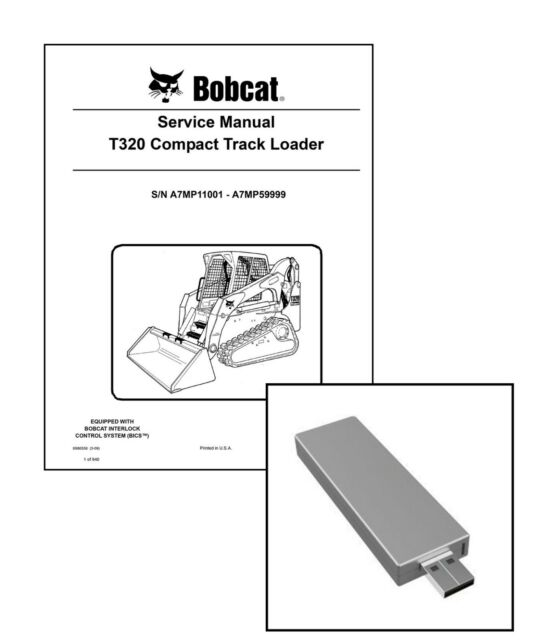 Bobcat S650 Skid Steer Workshop Service Manual USB Stick + Download