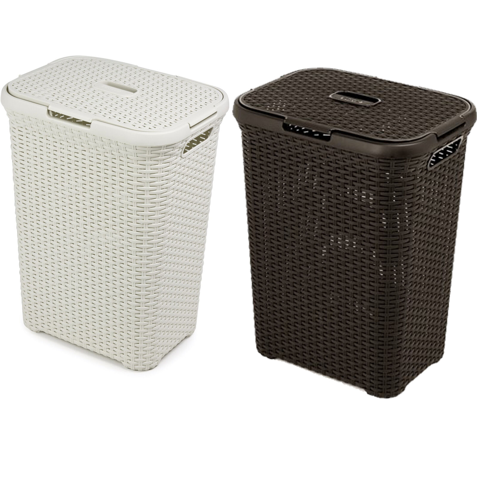 Elegant Laundry Hamper Rattan Design Laundry Bin Washing Basket Bucket Hamper