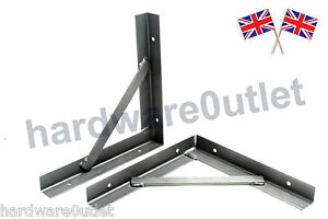 Reinforced Steel Gallows Brackets 50 X 50 Angle Iron Black